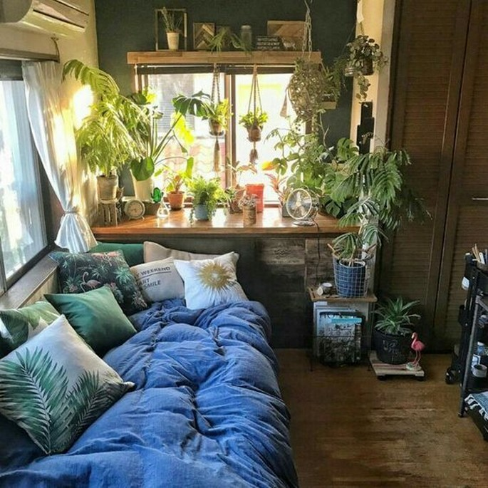 45 ideas to decorate your room with plants 30