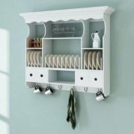 50 wall display cabinet plate racks new ideas 5