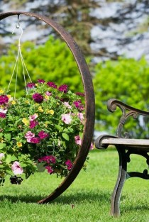 51 recycled wine bottles are the planters you didn't know you needed 18