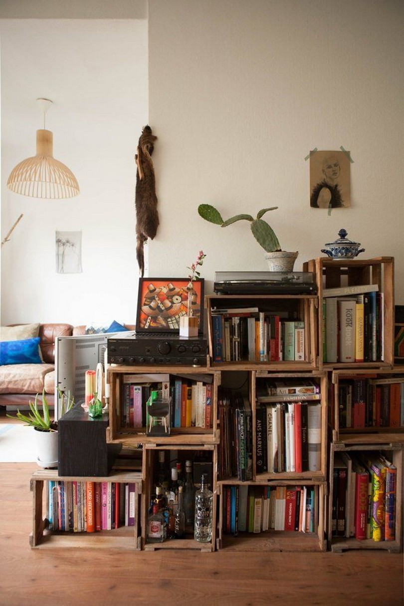 61 Stylish Ways To Display Bookshelves With A Lot Of Books Posh Pennies 19