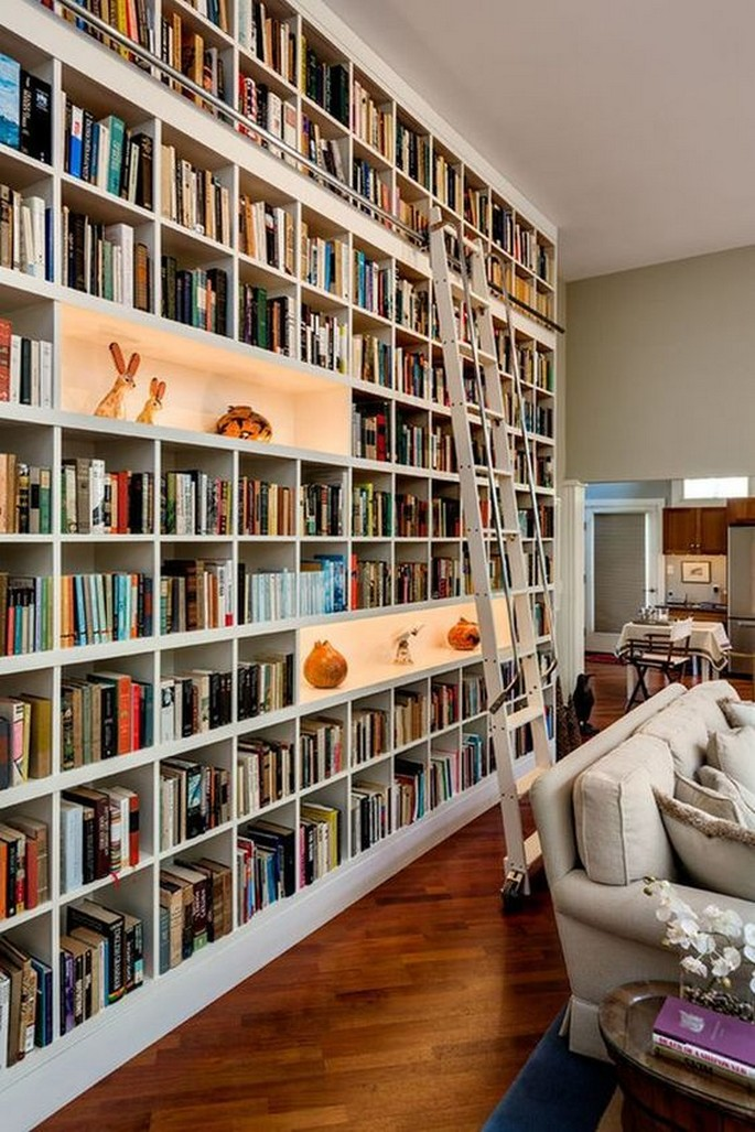 61 Stylish Ways To Display Bookshelves With A Lot Of Books Posh Pennies 41