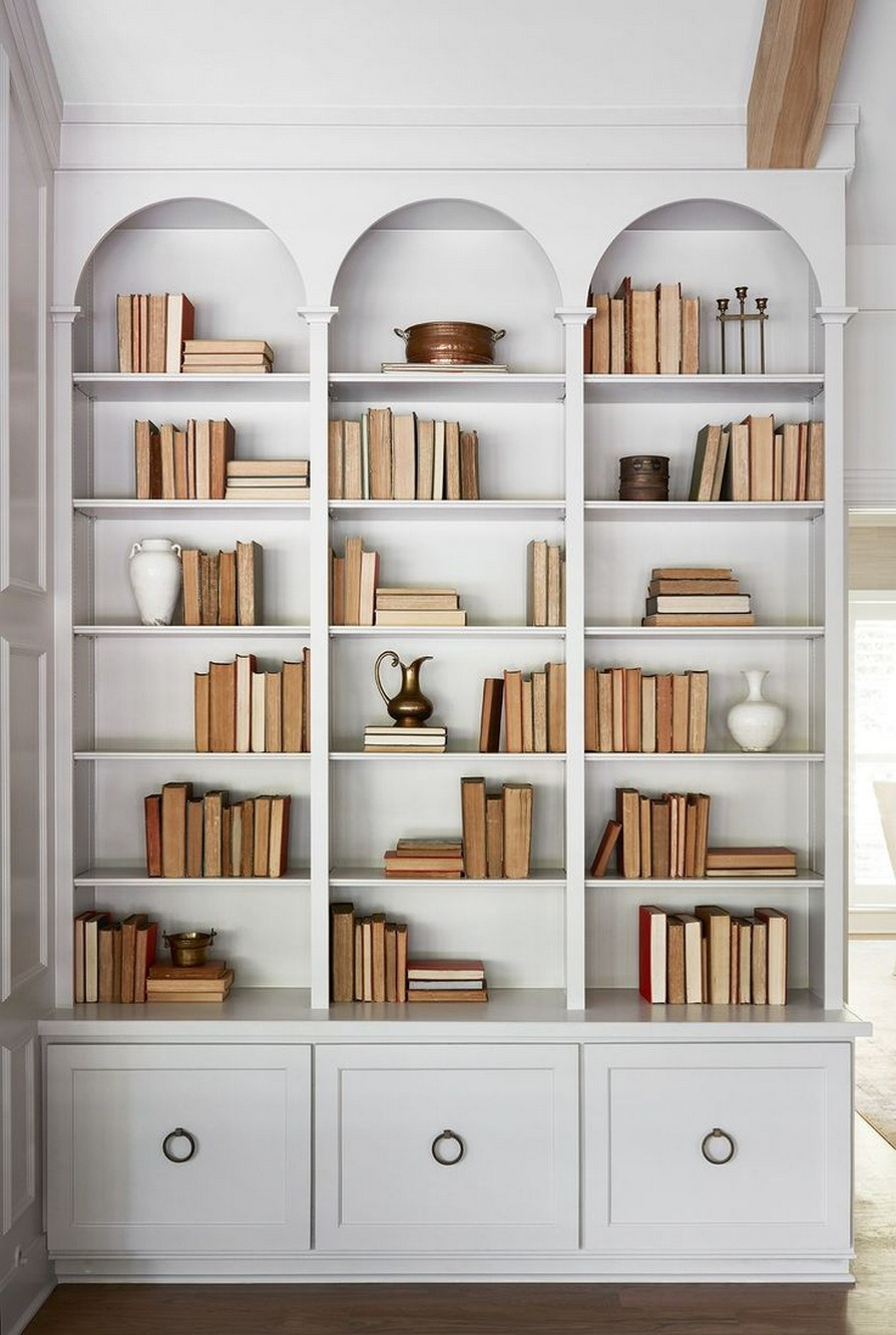61 Stylish Ways To Display Bookshelves With A Lot Of Books Posh Pennies 44