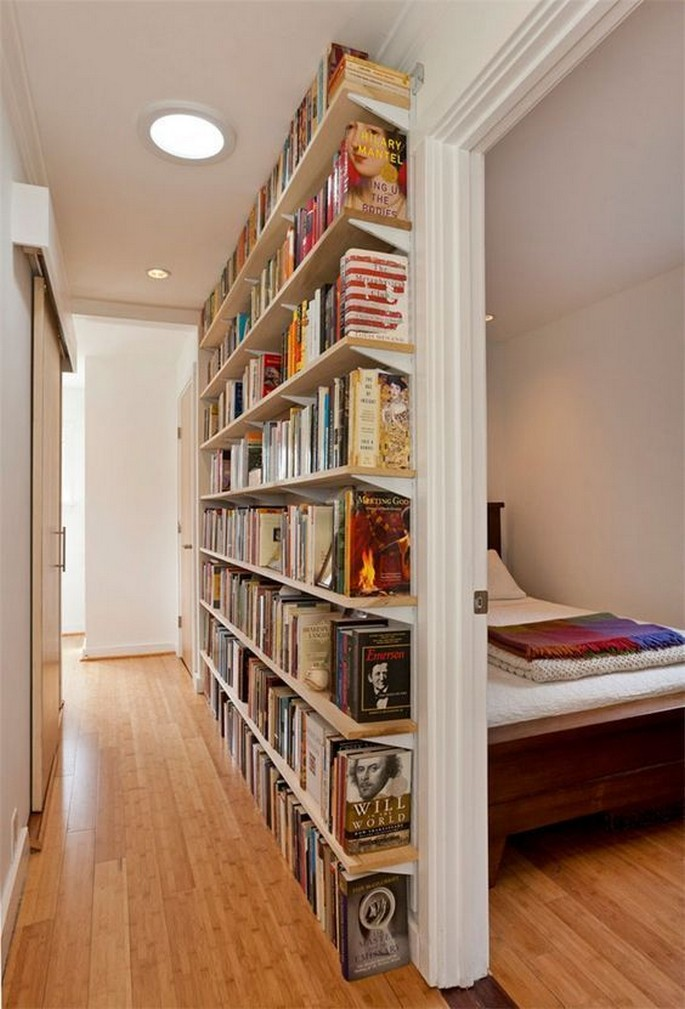 61 Stylish Ways To Display Bookshelves With A Lot Of Books Posh Pennies 9