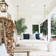 65 creative balcony design ideas with swing chair that more awesome #outdoorspace 55