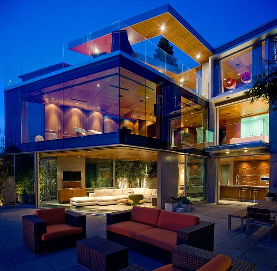 37 Exterior Of House At Dusk By Erhard Pfeiffer 35