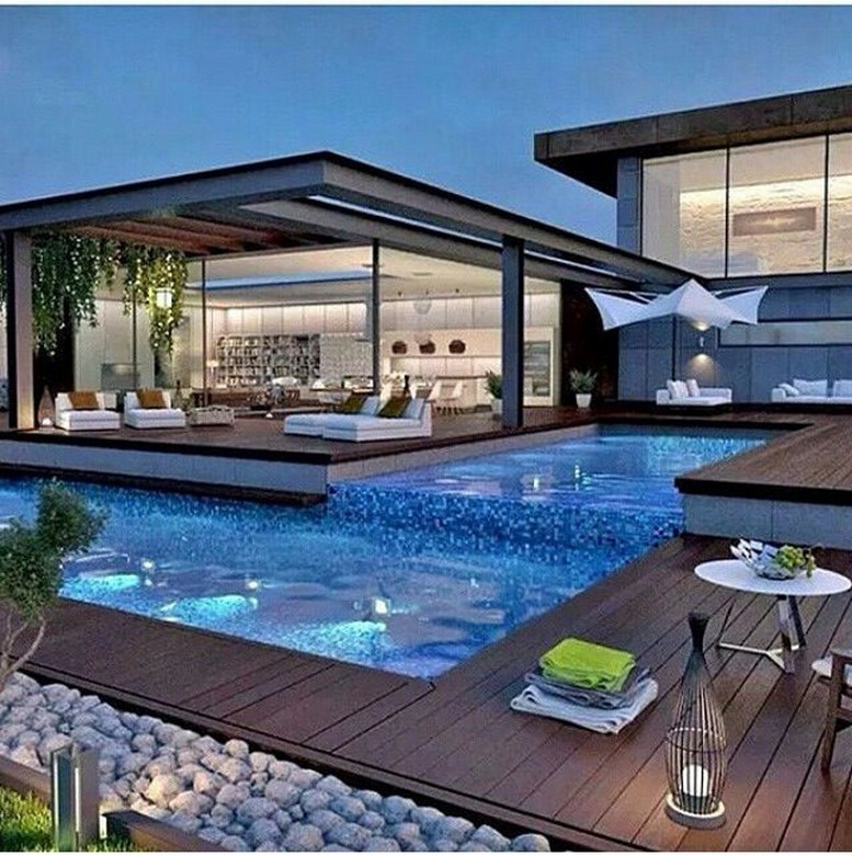 40 Fascinating Pool House Ideas 40