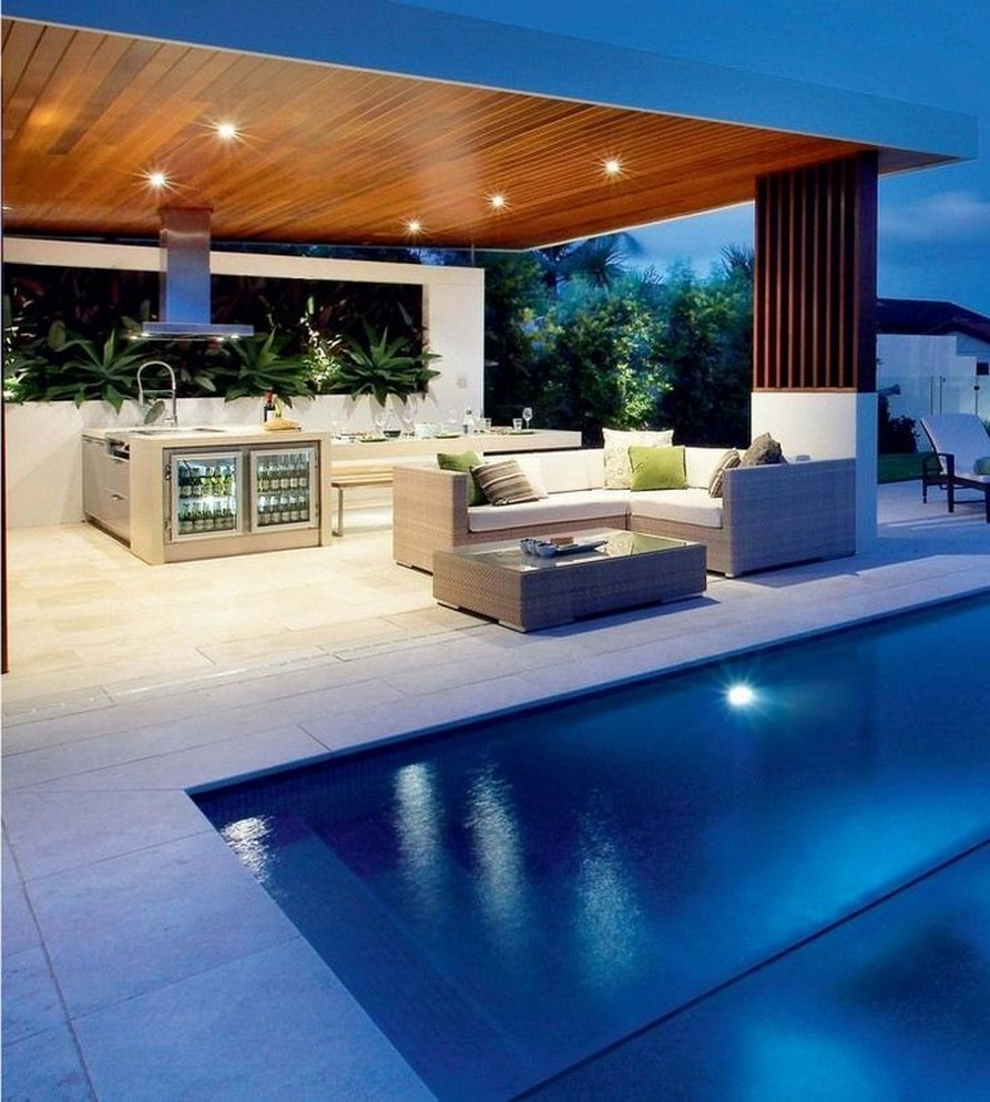 40 Fascinating Pool House Ideas 9
