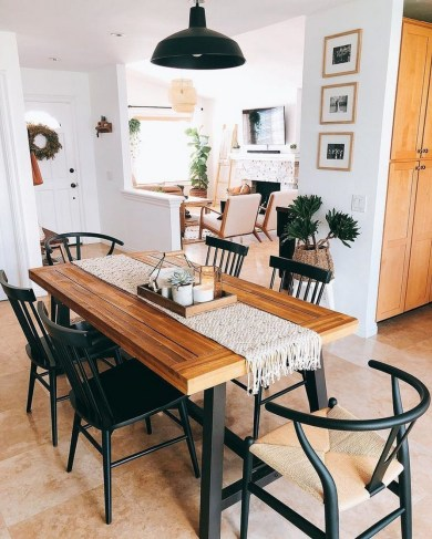 41 Rustic Dining Rooms That Will Make Your Farmhouse Shine 22