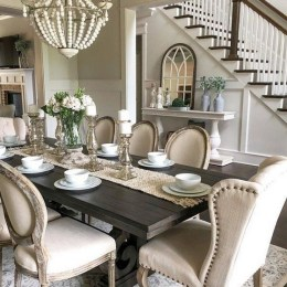 41 Rustic Dining Rooms That Will Make Your Farmhouse Shine 28