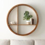 63 malta round wood wall shelf 5