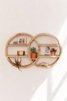 63 malta round wood wall shelf 63