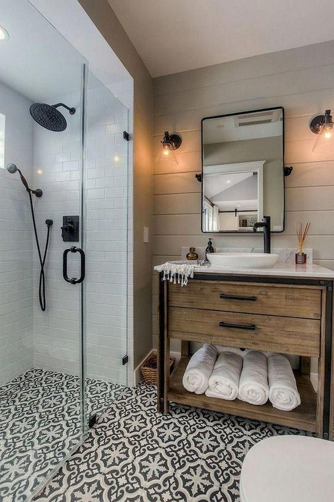 10 Farmhouse Bathroom Remodel Home Decor 13