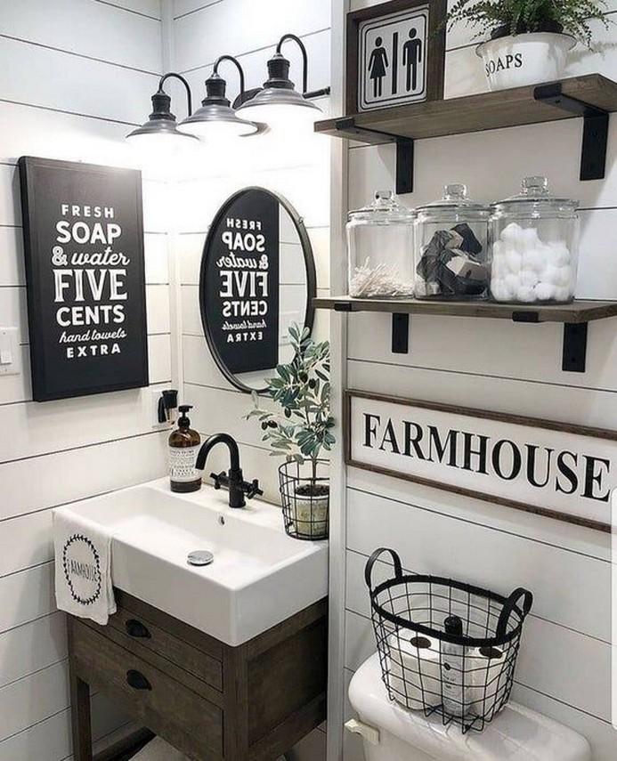 10 Farmhouse Bathroom Remodel Home Decor 14