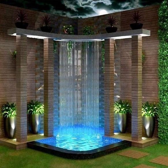 11 Delightful Garden Waterfall Home Decor 8