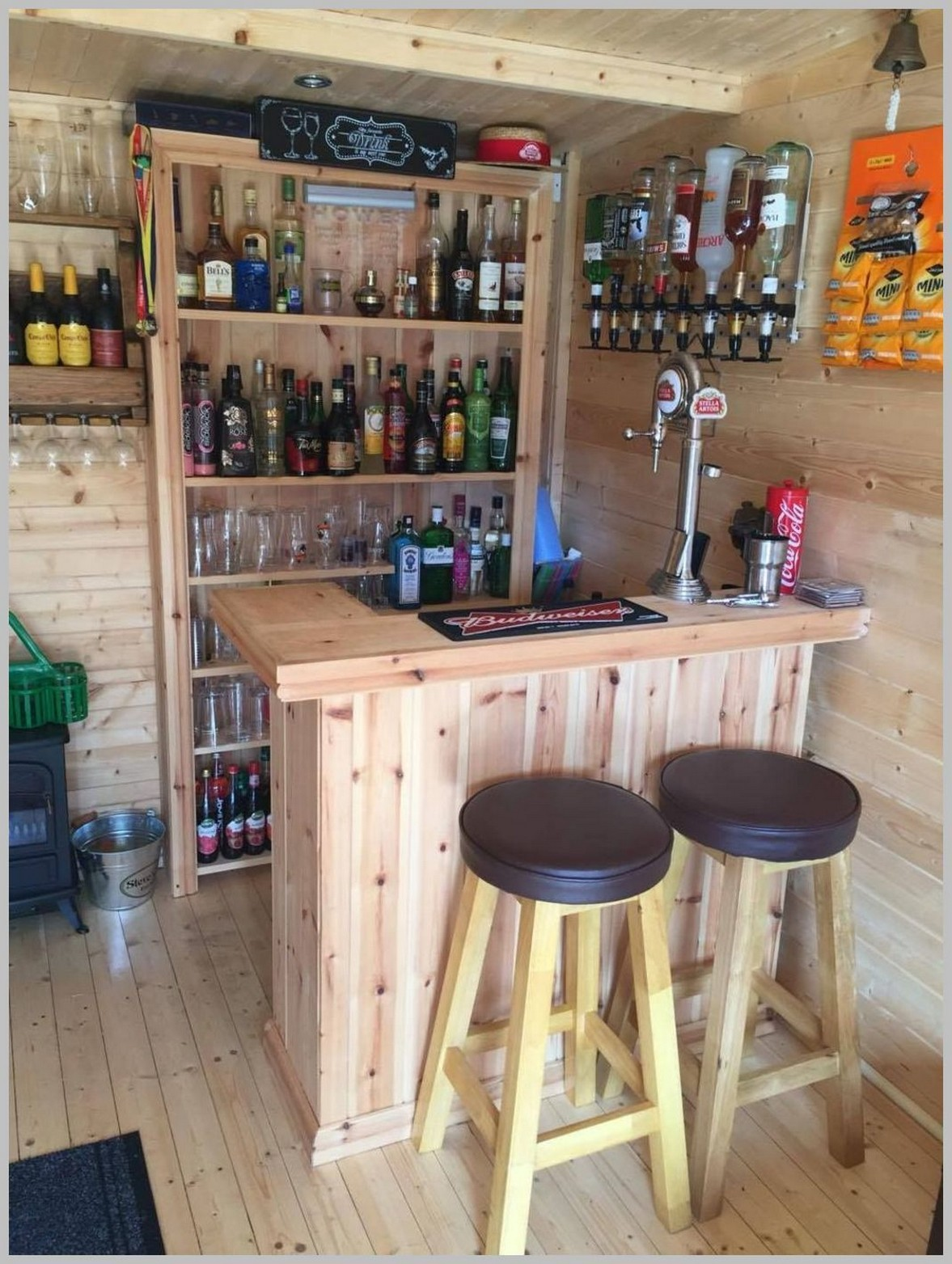 60 Man Cave Bar Ideas To Slake Your Thirst 24