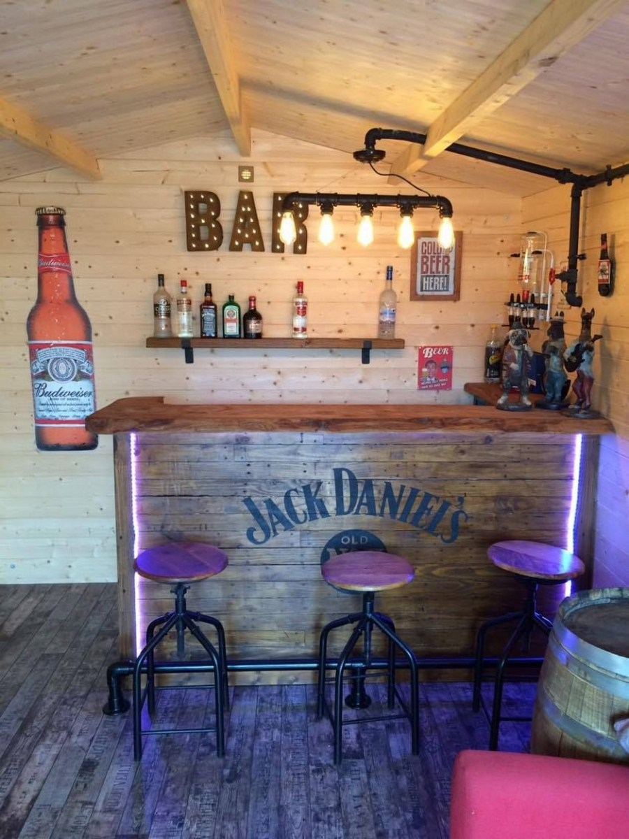 60 Man Cave Bar Ideas To Slake Your Thirst 7