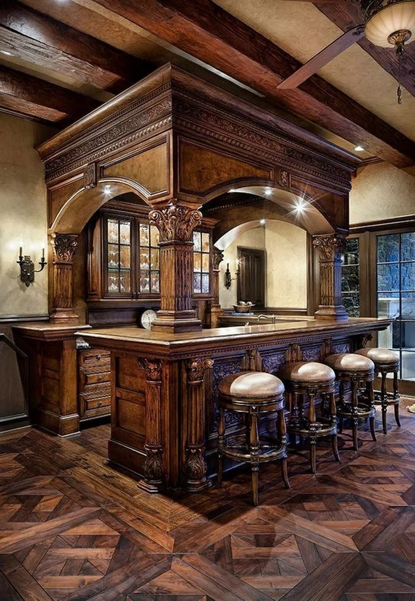 60 Man Cave Bar Ideas To Slake Your Thirst 8