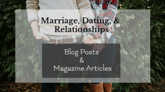 Freelance Writing: Marriage, Dating & Relationships Blog Posts and Articles graphic, couple holding hands in background