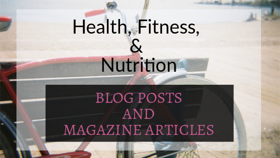 Freelance writer samples: Health, Fitness, and Nutrition: Blog Posts & Magazines. Photo of a bicycle leaning against a bench.