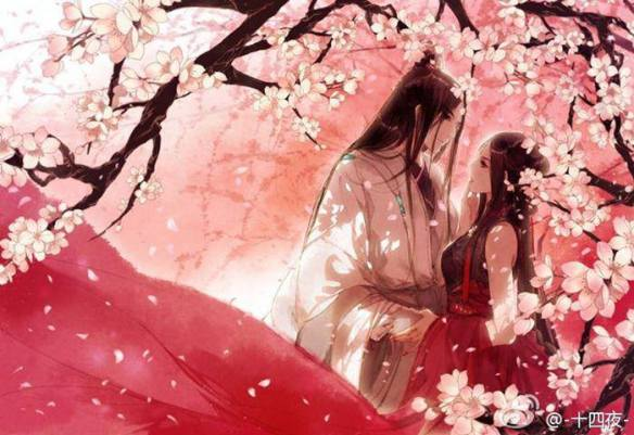 together-cherry blossoms