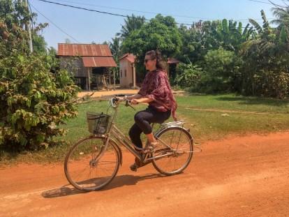 Katja Cycling in Cambodia