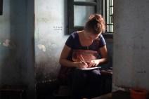Writing Postcards in Hanoi