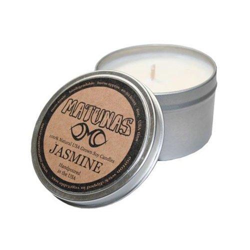 matunas wax candle jasmin jasmijn geurkaars natuurlijke soja was