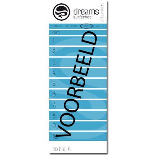 Surfkids Grommets Strippenkaart - strippenkaart 5x