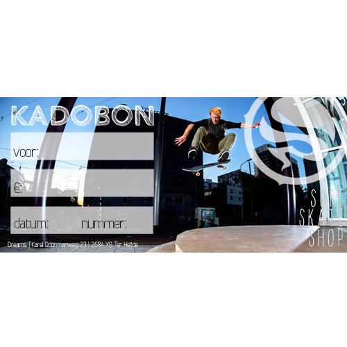 Kadobon Dreamsshop skater - 7,50