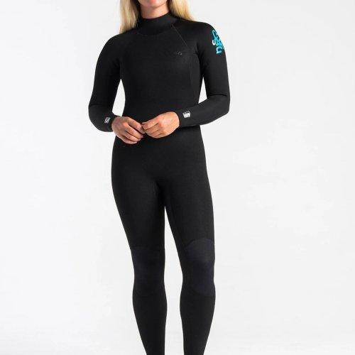 C-skins Surflite 4:3 Womens GBS Back Zip Steamer 10