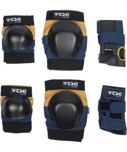 TSG Basic Blue/Yellow Protection Set Small