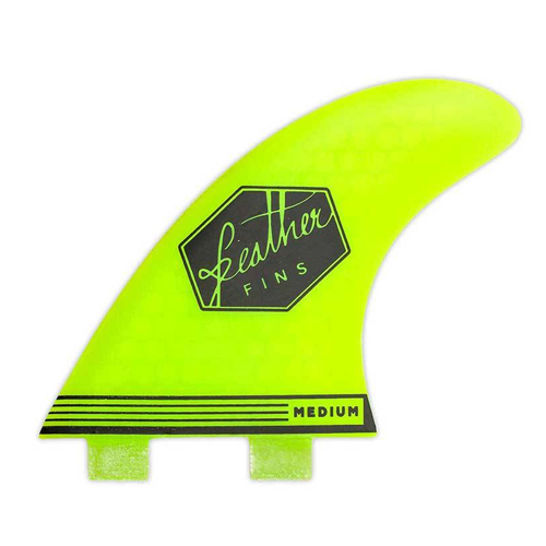 Feather Fins Ultralight Dual Tab Yellow Small