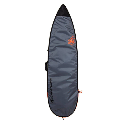 CREATURES OF LEISURE BOARDBAG Shortboard Lite Charcoal Orange 6'0''