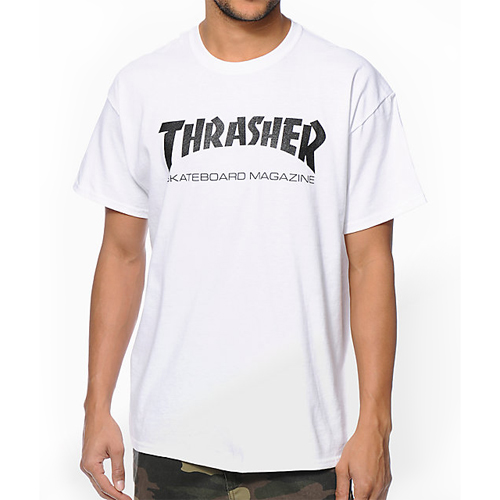 Thrasher Skate Mag Shirt White - M