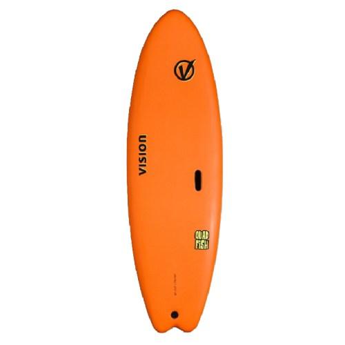 Vision Surfboard Quad Fish Orange 6'0''