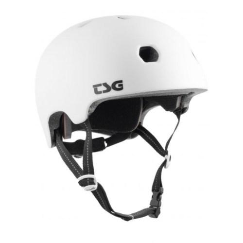 TSG Helm Meta Satin White