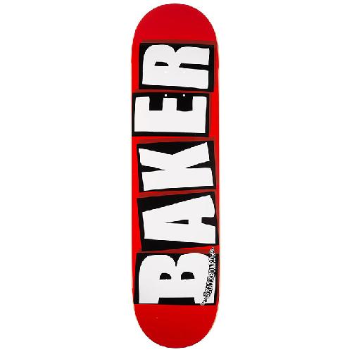 Baker Brand Logo White Skateboard Deck 8.25 8.3875 - 8.5