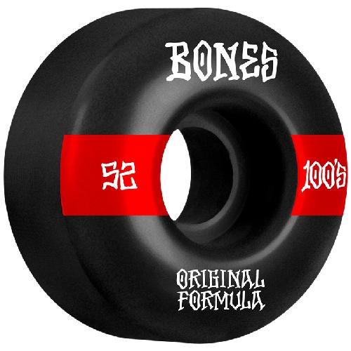 Bones 100's #14 V4 Wide Wheels 100a Black 52