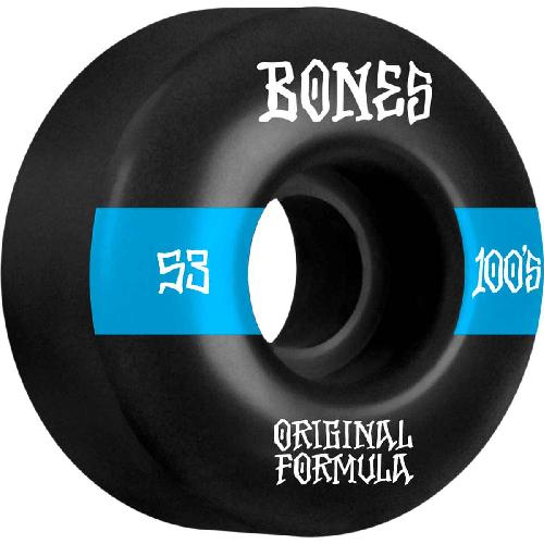 Bones 100's #14 V4 Wide Wheels 100a Black 53