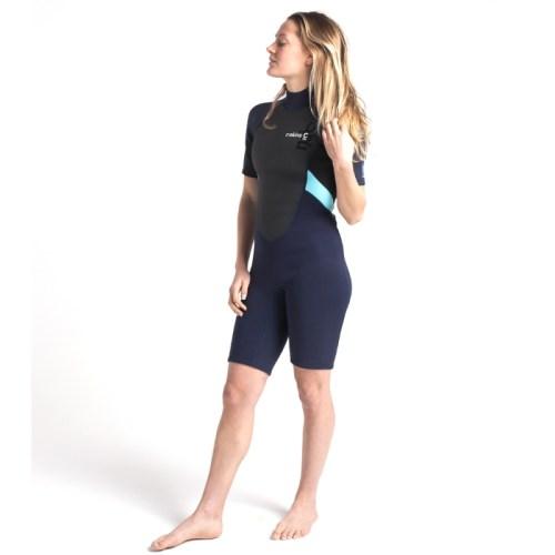 C-Skins Womens Shorti Slate Black Ice Blue