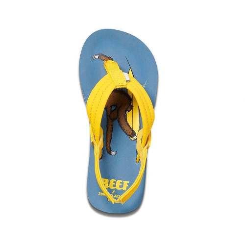 Reef Slippers Kids Ahi Surfing Sloth