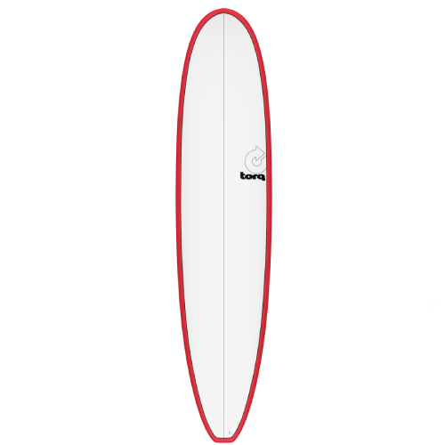 Torq Longboard Red White Deck 8'6