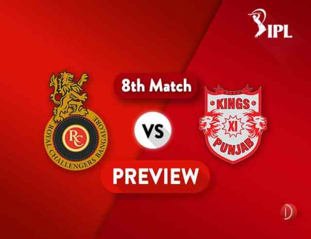 RCB vs KXIP Dream11 Team Prediction IPL Match 8: Preview | RCB to Play First Home Game