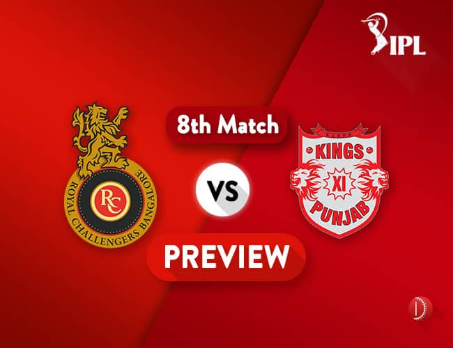 RCB vs KXIP Dream11 Team Prediction IPL Match 8: Preview   RCB to Play First Home Game