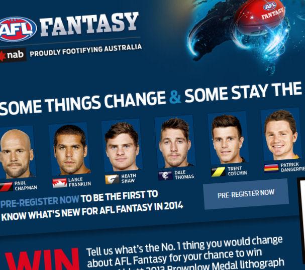 Pre-register For AFL Fantasy 2014