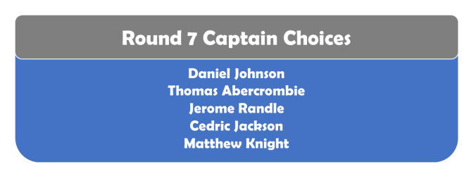 Round 7 Captains