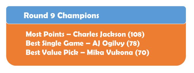 Round 9 Champions