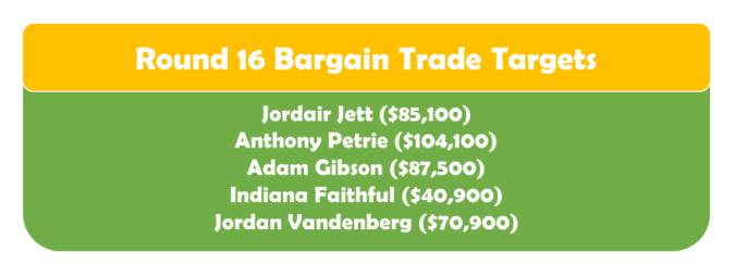 Round 16 Bargain TT