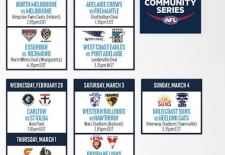 JLT Community Series Fixture 2018