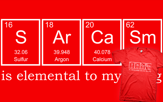 Sarcasm Elements T-shirt
